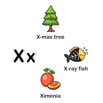 Alfabet letter x