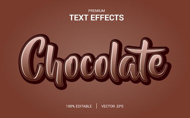 Alfabet lettertype koffie chocolade typografie tekstlogo merk, met modern lettertype teksteffect