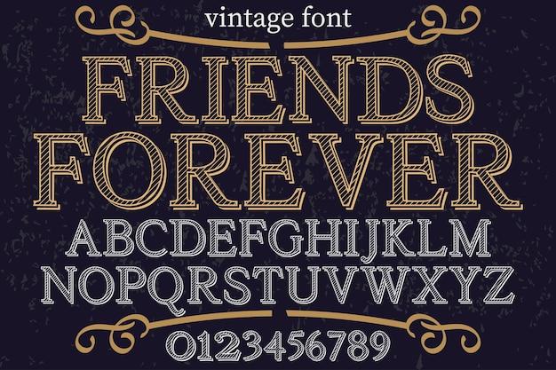 Alfabet lettertype ontwerp voor altijd