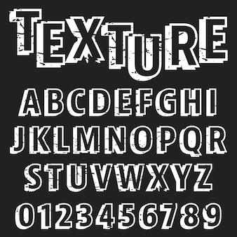 Alfabet lettertype sjabloon
