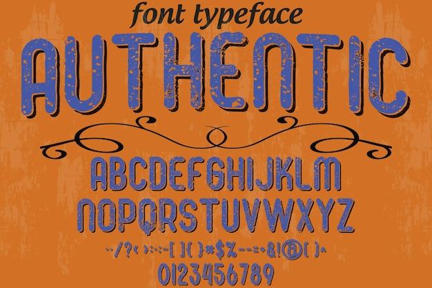 Alfabet lettertype typografie lettertype ontwerp authentiek