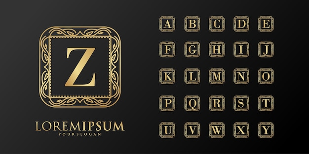 Alfabet luxe eerste badge-logo