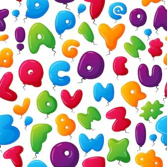 Alfabet naadloos patroon