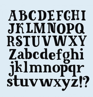 Alfabet pen hand tekenen letters en cijfers op notebook blad.