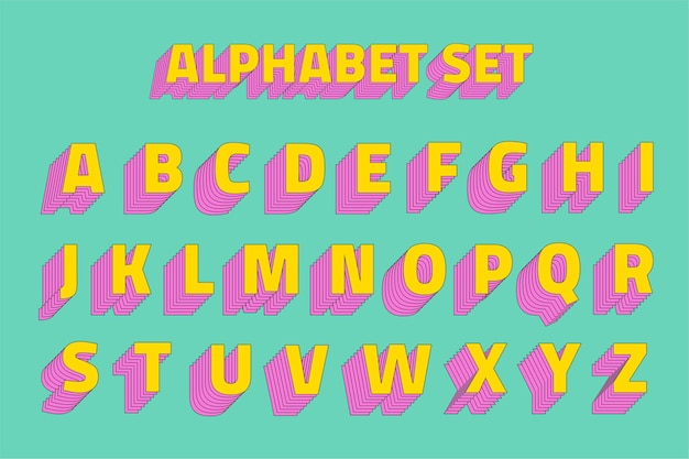 Alfabet set