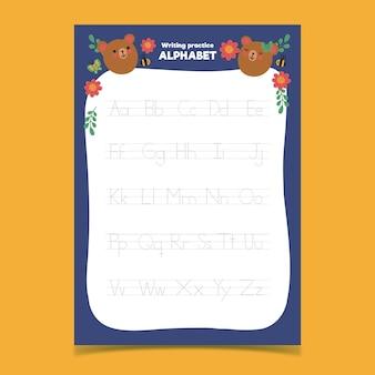 Alfabet tracering sjabloon