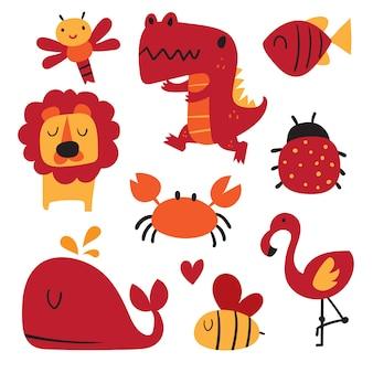 Alfabet vectorontwerp voor kind, lettertype vectorontwerp voor kind