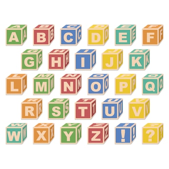 Alfabetblokjes.