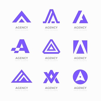 Alfabetische letter a logo-collectie