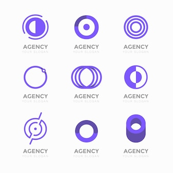 Alfabetische letter o logo collectie