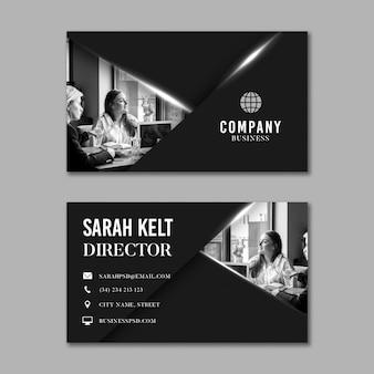 Algemeen bedrijfs horizontaal visitekaartje