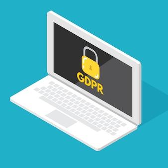 Algemene verordening gegevensbescherming - avg. vector illustratie