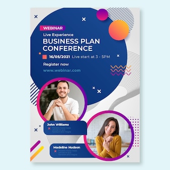 Algemene zakelijke conferentie poster