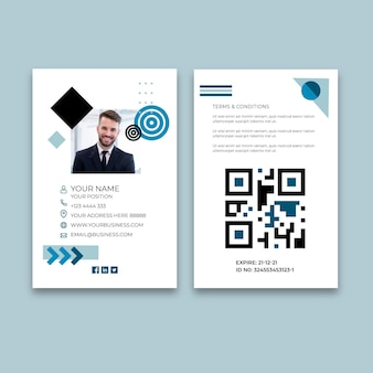 Algemene zakelijke identiteitskaart