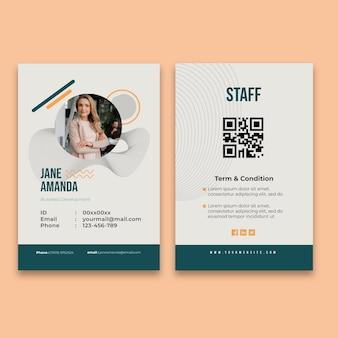 Algemene zakelijke identiteitskaart Gratis Vector