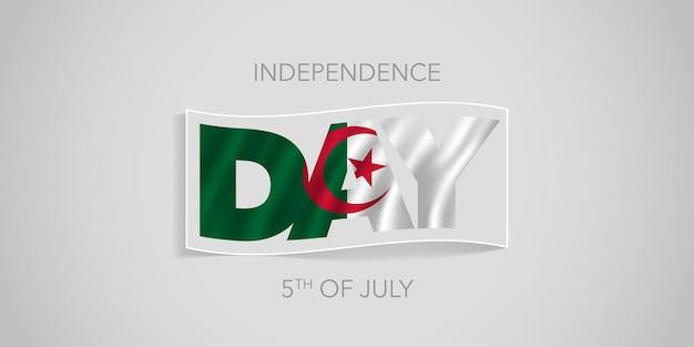 Algerije gelukkige onafhankelijkheidsdag banner