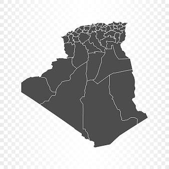 Algerije kaart geïsoleerd op transparant