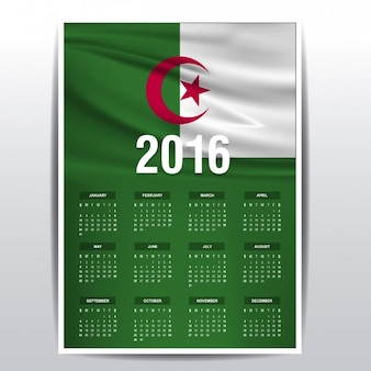 Algerije kalender van 2016