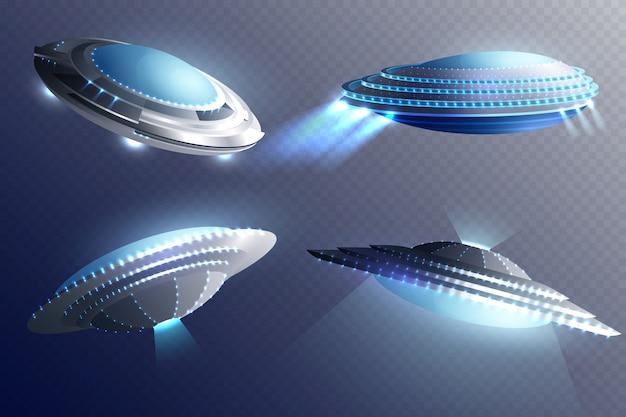 Alien ruimteschepen set