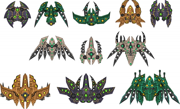 Alien spaceship sprites