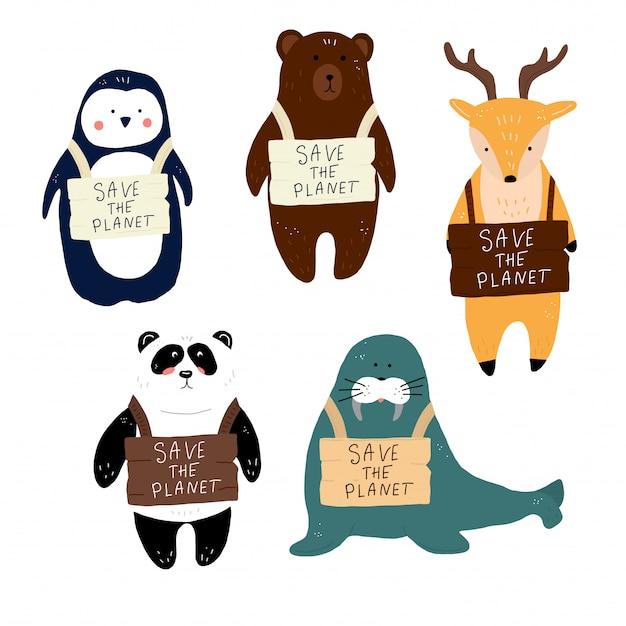 Alle dieren redden de planeet