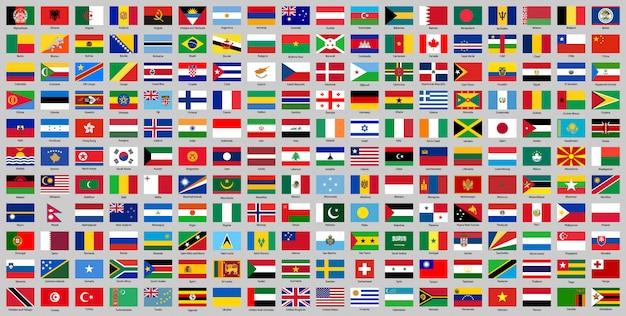Alle landen nationale vlaggen