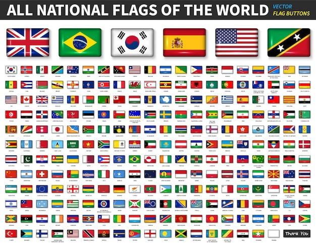 Alle nationale vlaggen van de wereld