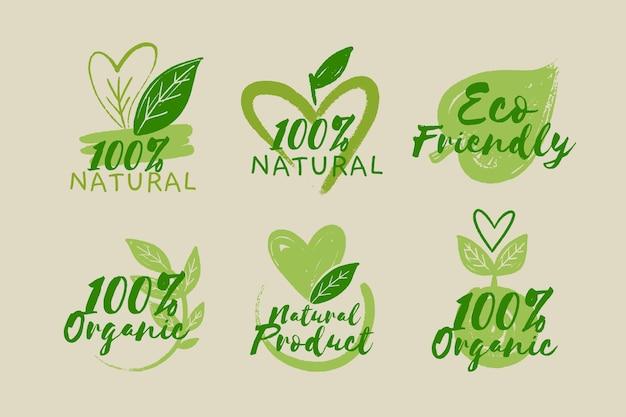 Alle natuurlijke badge-collectie