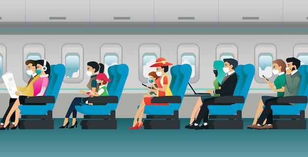 Alle passagiers zijn verplicht om tijdens de vlucht een masker te dragen.