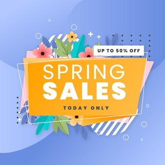 Alleen vandaag nog lente-verkoop met plat design