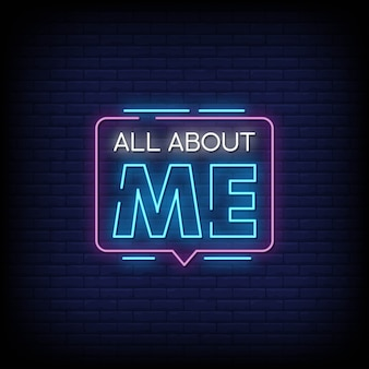 Alles over mij neon signs style text