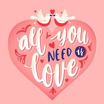 Alles wat je nodig hebt is liefde belettering