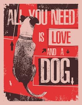 Alles wat je nodig hebt is liefde en een hond