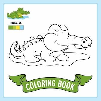 Alligator dieren krokodil kleurboek pagina's