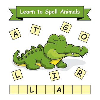 Alligator leer dieren spellen