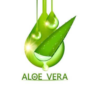 Aloë vera collageen en serum voor cosmetische huidverzorging