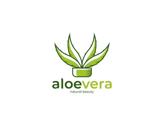Aloë vera logo afbeelding ontwerpsjabloon
