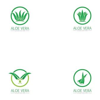 Aloë vera-logo instellen
