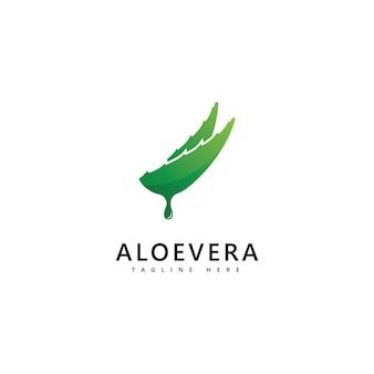 Aloë vera plant logo drop vector ontwerp. aloë vera gel logo icoon
