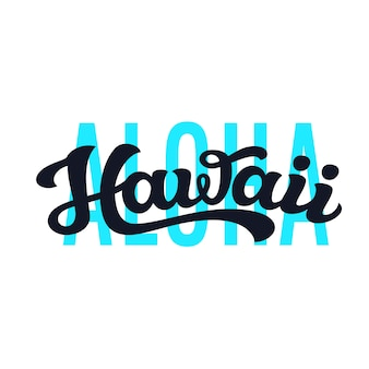 Aloha hawaii typografie