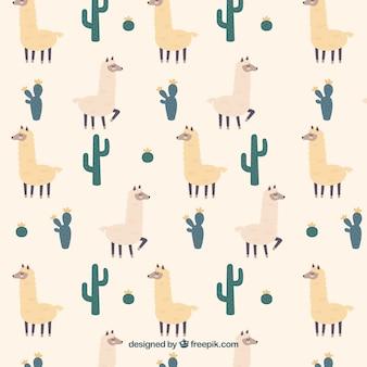 Alpaca patroon achtergrond