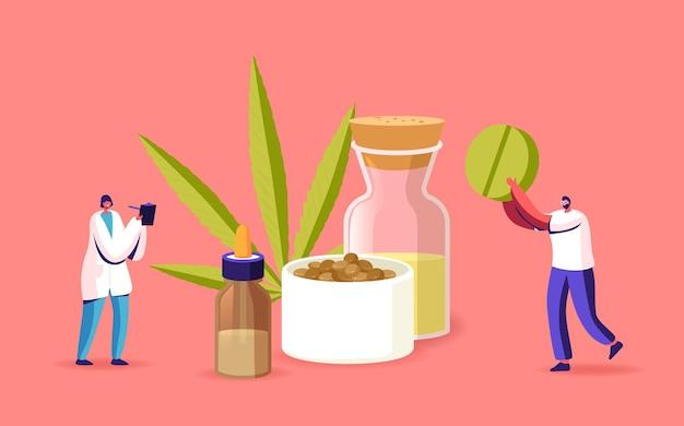 Alternatieve cbd-remedie of medicatie, lichte medicijnen voor persoonlijk gebruik