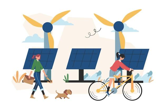 Alternatieve hernieuwbare energie, zonne-energie, technologische zonnepanelen
