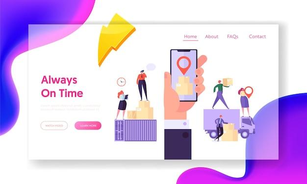 Altijd op tijd concept website sjabloon.