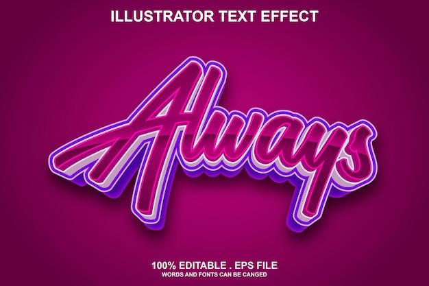 Altijd teksteffect bewerkbaar