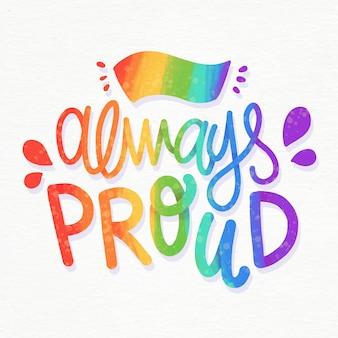 Altijd trots trots belettering