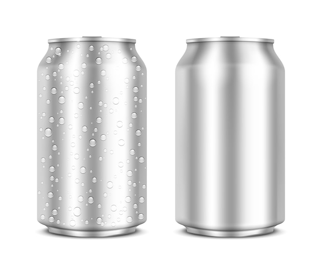 Aluminium blikjes geïsoleerd