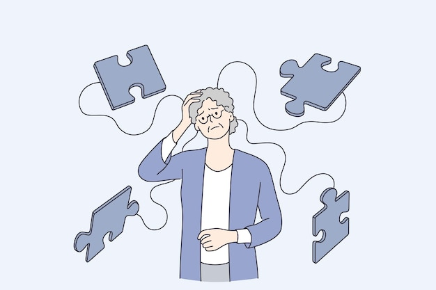 Alzheimer ziekte ziekte patiënten concept