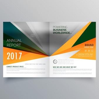 Amazing abstracte vorm tweevoudig zakelijke brochure template design