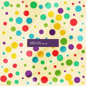 Amazing achtergrond van kleurrijke cirkels in verschillende maten